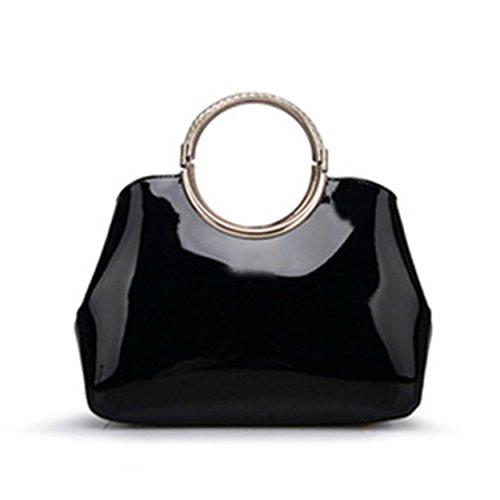 Classic Black Clutch Bag - 8