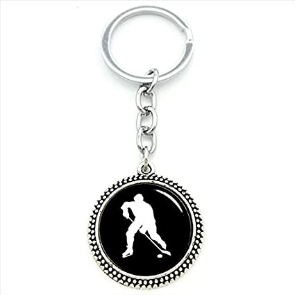 Amazon.com : Key Chains - 2017 New Men Keychain ice Hockey ...