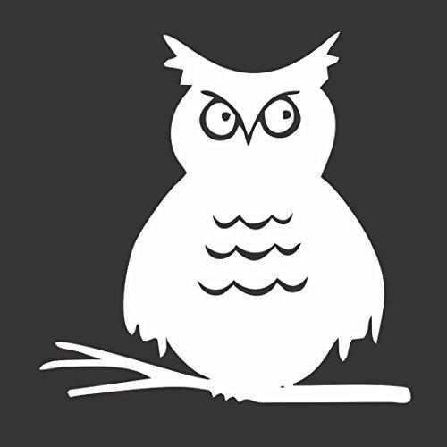 Owl Bird Limb - Die Cut Vinyl Window