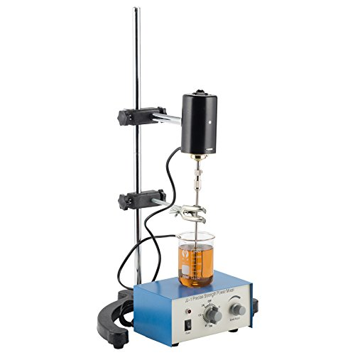 (CO-Z Electric Overhead Stirrer Mixer, Height-Adjustable Electric Overhead Mixer0-3000 RPM, 100W, 0-120 Minutes for Lab Mechanical Mixer (Overhead Stirrer 2))