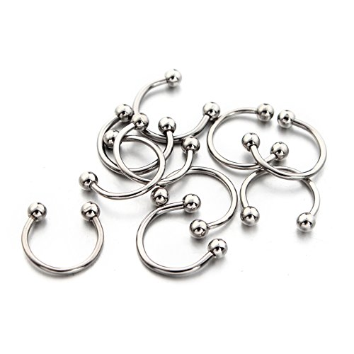10pcs Nose Septum Horseshoe Circular Barbell 16 Gauge 316l Surgical Steel (Inner Diameter 10mm) (Bags And Shoes Wholesale)
