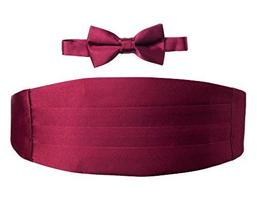 Spring Notion Big Boys' Cummerbund and Bow Tie Set L Burgundy