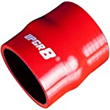 "Upgr8 Universal 4-Ply High Performance Straight Hump Coupler Silicone Hose (2.5""(63MM), Red)"