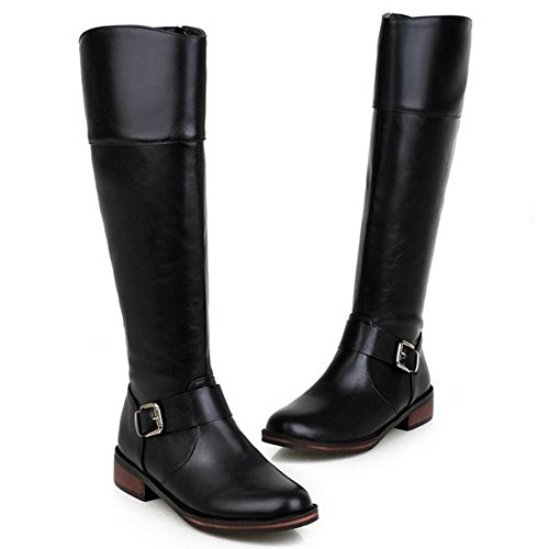 Zipper Black With Long 1624 Women's Taoffen Boots WxqHIHf