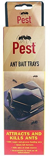 ANT BAIT TRAYS TRAPS (3 PK) - QUICK AND EFFICIENT COCKROACH, ANT, WOODLICE, INSECT KILLER ITP