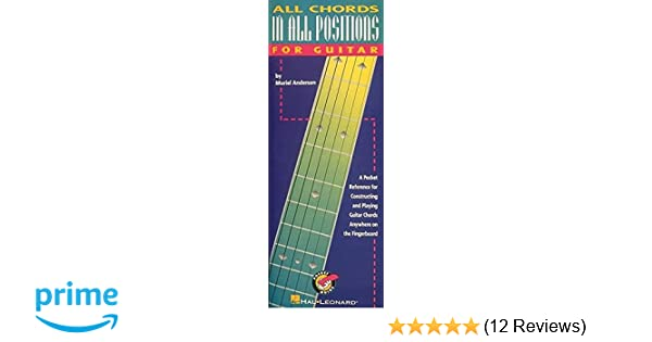 All Chords In All Positions Muriel Anderson 9780793562596 Amazon