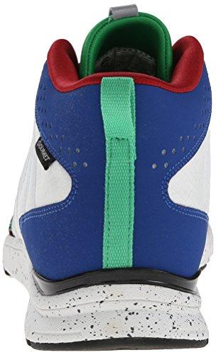Gourmet Hombres Corridore Moda Sneaker Blanco / Azul Verdadero