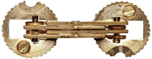 (SOSS Mortise Mount Invisible Barrel Hinge, Solid Brass, Satin Brass Finish, 14mm Diameter, 3/4