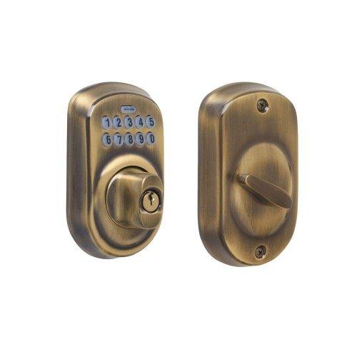 BE365 PLY 609 Plymouth Antique Brass Keypad Deadbolt - Deadbolt-YOW
