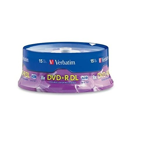 15pk Dvd+r Dl 8.5gb 8x Branded Spindle