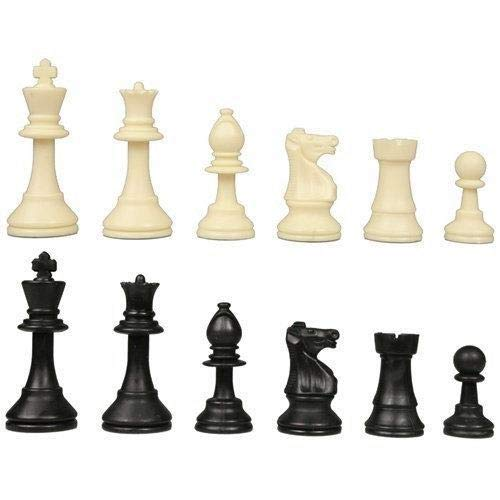 3.75 Inches Plastic Staunton Chess Pieces by Chess and Bridge