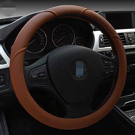 HCMAX Microfibre Doux V/éhicule Couvre Volant Confortable Protecteur de Volant de voiture Universel Diam/ètre 38cm 15 Housse de Volant