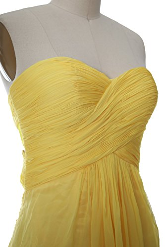 MACloth Women Strapless Short Bridemaid Dress Wedding Cocktail Party Gown Azul Real