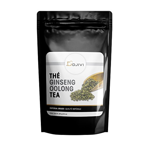 Dodjivi Ginseng Oolong Tea Loose - Leave Tea Wu Long, Premium Specialty Tea - Unique Taste & Aroma - 250g (8.8 oz) by DODJIVI
