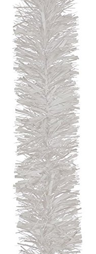 Festive 3Metre Luxury Chunky White Tinsel Garland Party Decoration by Festive