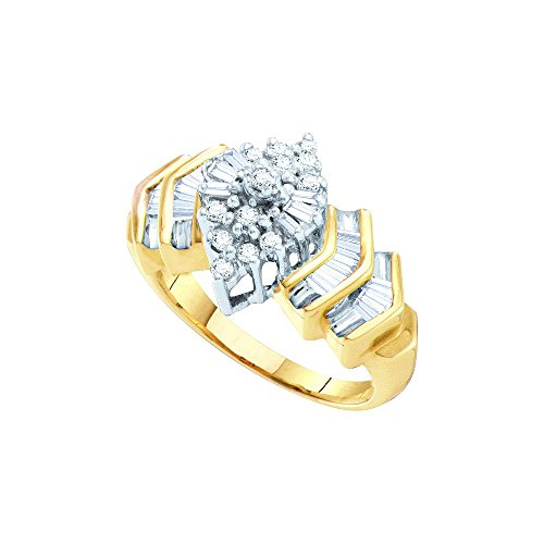 Diamond 10kt Yellow Accent Ring - 6