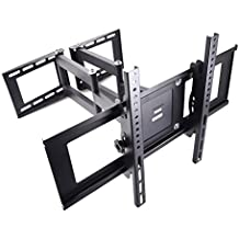 "Sunydeal Full Motion Dual Arm Bracket Wall Corner Mount for Samsung Vizio Sony Sanyo LG 30 32 39 40 42 43 46 47 48 49 50 55 60 65 70"" Plasma LCD LED 4K Flat Panel Smart TV"