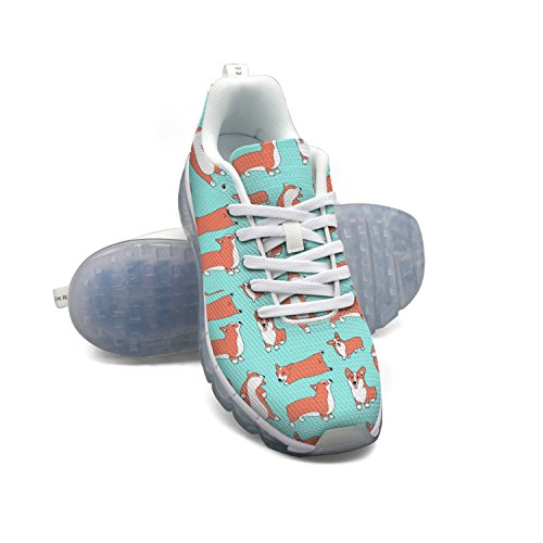 cheap sale latest collections FAAERD Corgi Love Pet Pattern Men's Breathable Mesh Lightweight Air Cushion Sport Running Shoes cost online discount shop cheap sale with paypal for nice cheap online lv1xnU1ZO