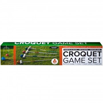 Wooden Croquet Game Set - Pack of 2 by bulk buys