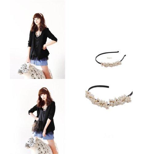 HuaYang Korean Fashion Sweet Girls Small Imitation Pearls Headband Hairpin Hair Band