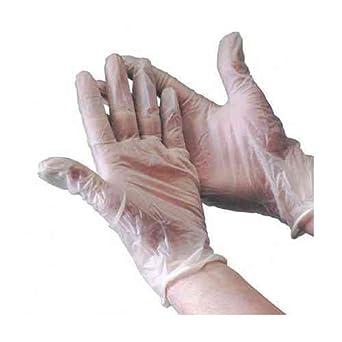 Powdered Pack of 100 Large Gloveman SPD332 Vinyl Gloves