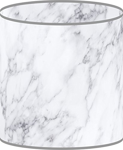 LampPix 10 Inch Custom Printed Table Desk Lamp Shade Marble White (Spider Fitting)