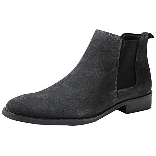 De Vintage High Negocios Casual British Top Chukka Genuino De De Los Grey Cuero Boots Shoes De Boots Botines Moda Martin Hombres zcTZqwdxzS