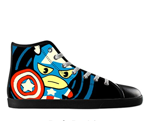 Heren Canvas Hoge Schoenen Captain America Thema Kapitein Canvas Shoes15
