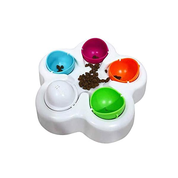 KOBWA Unique Dog Puzzle Toy, Pet Puzzle Feeder Bowl, Fun Interactive IQ Game to Hide Treats in - Improve Concentration - Reduce Hyperactivity, Puzzle Smart Toys for Small Medium Large Dogs Cats 1