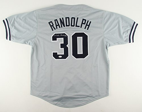 WILLIE RANDOLPH SIGNED NY YANKEES JERSEY w/ JSA WITNESSED COA NEW YORK METS MGR (Baseball Willie Randolph Autographed)