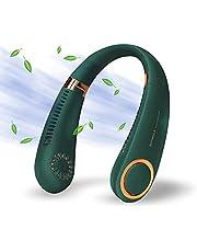 Portable Neck Fan, Hands Free Bladeless Fan, 3000 mAh Battery Operated Wearable Personal Fan, Leafless, Rechargeable, USB Powered Desk Fan