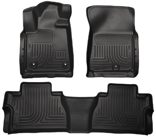 Husky Liners Front & 2nd Seat Floor Liners Fits 14-17 Tundra CrewMax Cab