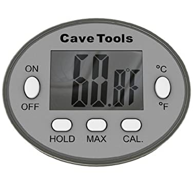 Digital Cooking Thermometer - INSTANT READ - For BBQ Grilling Candy Chocolate Meat Baking Liquids Smoker - Stainless Steel Casing Long Food Probe & LCD Display by Cave Tools