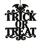 Lovewe The Witch Is In Halloween Hanging Sign Door Hanging Halloween Decoration (B)
