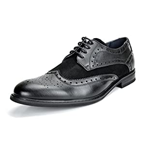Bruno Marc Men's Prince Leather Lined Wing-Tip Dress Oxfords Shoes