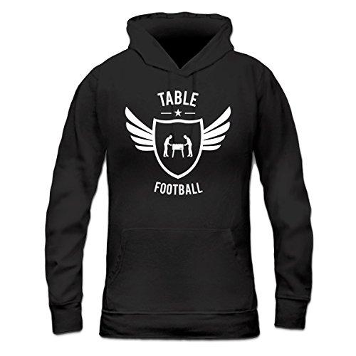 Sudadera con capucha de mujer Table Football Winged by Shirtcity Negro
