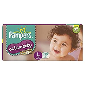 Pampers Active Baby Taped Diapers,...
