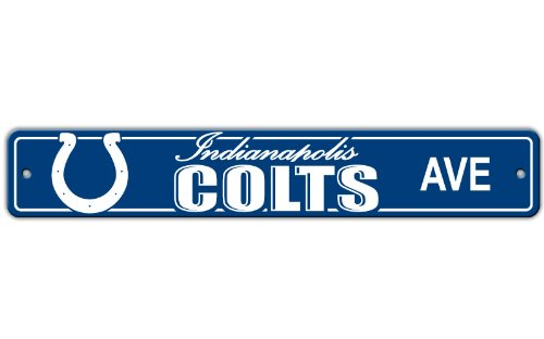 Colts Sign Street Indianapolis - Indianapolis Colts NFL Plastic Street Sign