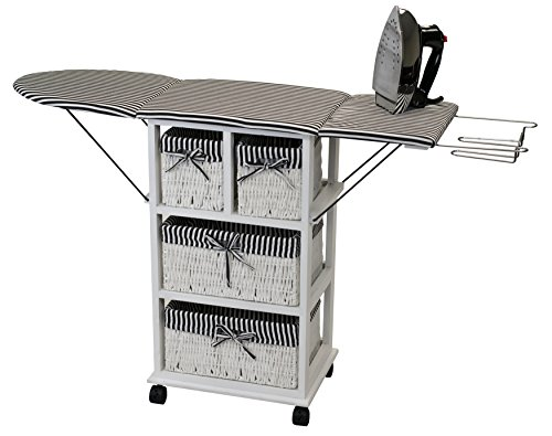 SpaceMaster SM-NX-904 Waist High Folding Ironing Board Center, Wheeled, ()