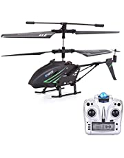 VATOS RC Helicopter Remote Control Helicopter Indoor with Gyro and LED Light 3.5 Channels Alloy Mini Helicopter Remote Control for Kids & Adult Micro RC Helicopter Toy,Black
