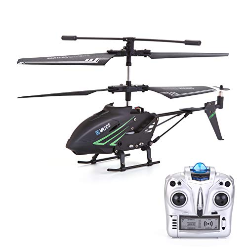RC Helicopter, Remote Control Helicopter with Gyro and LED Light 3.5HZ Channel Alloy Mini Helicopter Remote Control for Kids & Adult Indoor Outdoor Micro RC Helicopter Best Helicopter Toy Gift (Best Coaxial Rc Helicopter)