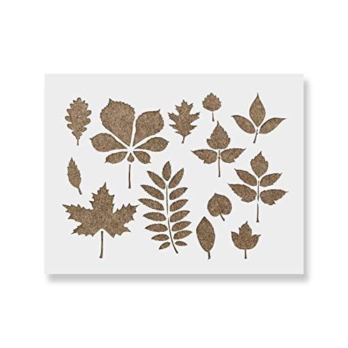 Fall Leaves Stencil Template for Walls and Crafts - Reusable Stencils for Painting in Small & Large Sizes