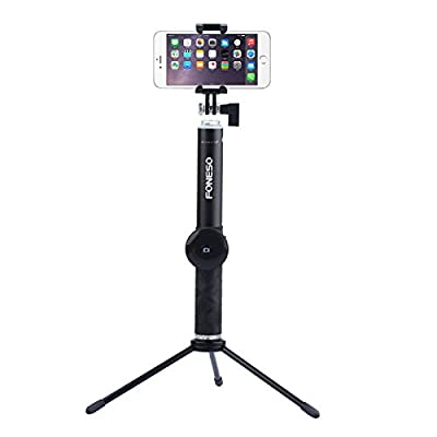 Selfie Stick, Foneso Extendable Monopod with Bluetooth Remote and Tripod Stand for iPhone 7 6S Plus 6S 6 Plus 6 5S Android Samsung Galaxy S6 S5 Note 4 Support Photo & Video by Foneso