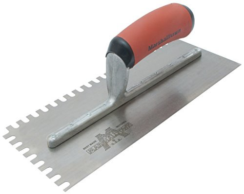 (Marshalltown NT686 Notched Trowel 1/4 x 3/8 x 1/4-Inch U-Soft Grip Handle by Marshalltown )