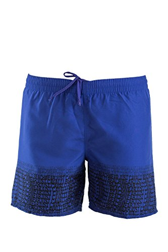 Just Cavalli Stretch Briefs - Just Cavalli Men Blue Navy Logo Pattern Beach Board Shorts Swim Trunks XS US EU 46