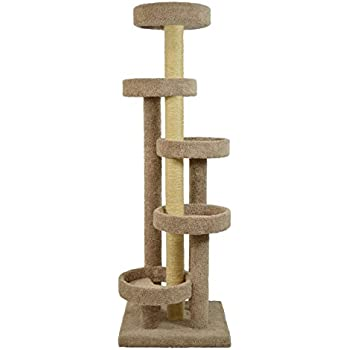 Molly and Friends Molly & Friends a Five Tier Scratching Post Furniture, Green