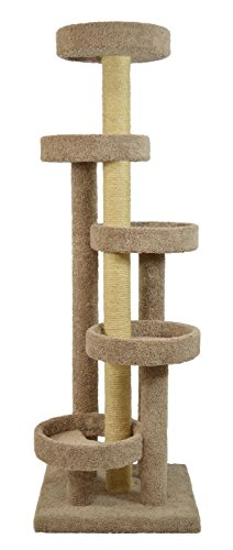 (Molly and Friends Molly & Friends a Five Tier Scratching Post Furniture, Green )