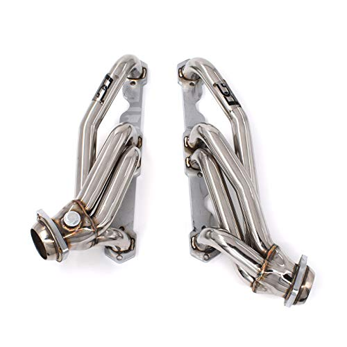 Shorty Exhaust Headers 1-1/2 x 2-5/8 in. for Chevrolet GMC C1500 K1500 C2500 K2500 Pickup Suburban Blazer Jimmy Tahoe Yukon SUV 5.0L 5.7L 305 350 cu. in. Small Block V8 ()