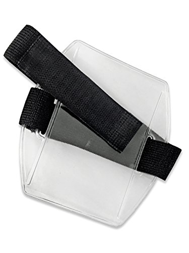 Armband ID Badge Holder with Black Velcro Arm Band by OnDepot.com - PACK OF 2 (Arm Badge Holder)