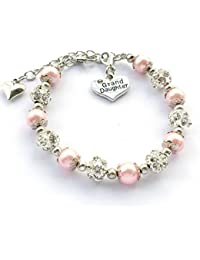 Gift for Granddaughter Bracelet Jewelry with Rhinestone Balls Faux Pearl